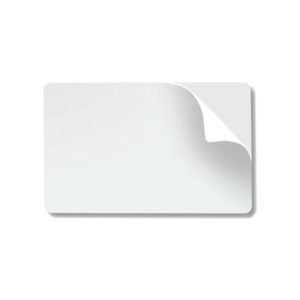 Datacard StickiCard 597640-001 CR80.10 Mil Adhesive Backed PVC Cards